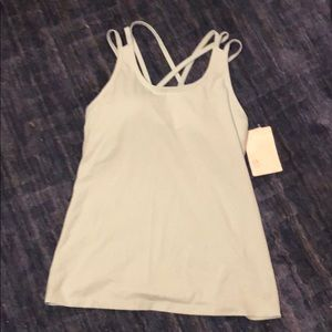 Never worn mint green athletic strappy tank top